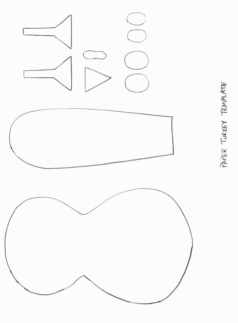 Thanksgiving crafts print your paper turkey template all kids network for Thanksgiving turkey template
