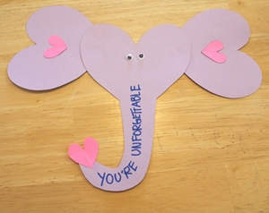 elephant valentine craft