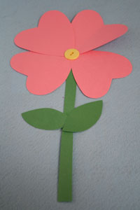 heart flower craft