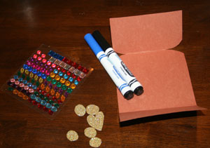 treasure chest valentine craft materials