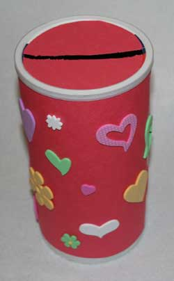 kids valentine holder craft