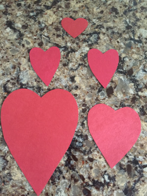 heart puppy valentine's day craft step 1