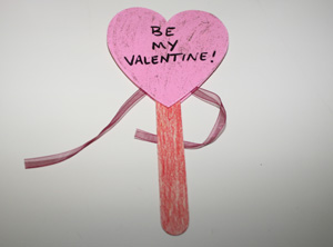 valentines day heart wand craft