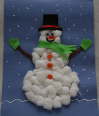 Craft Ideas  Buttons on Use White 3 D Paint To Add Dots Of Snow To The Background Of Your