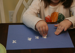 igloo craft snowflakes
