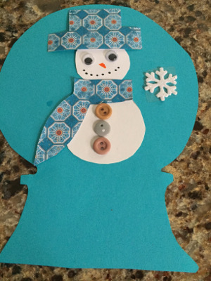 plastice plate snow globe craft step 6