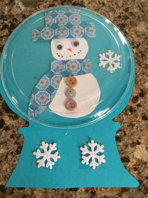 Plastic Plate Snow Globe Craft All Kids Network