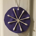 q tip snowflake craft
