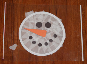 snowman contact paper craft