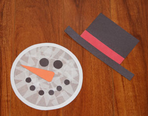 Snowman Sun Catcher Craft All Kids Network