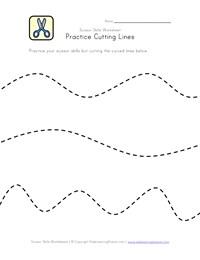 Scissor Skills Worksheets for Kids | Kids Learning Station