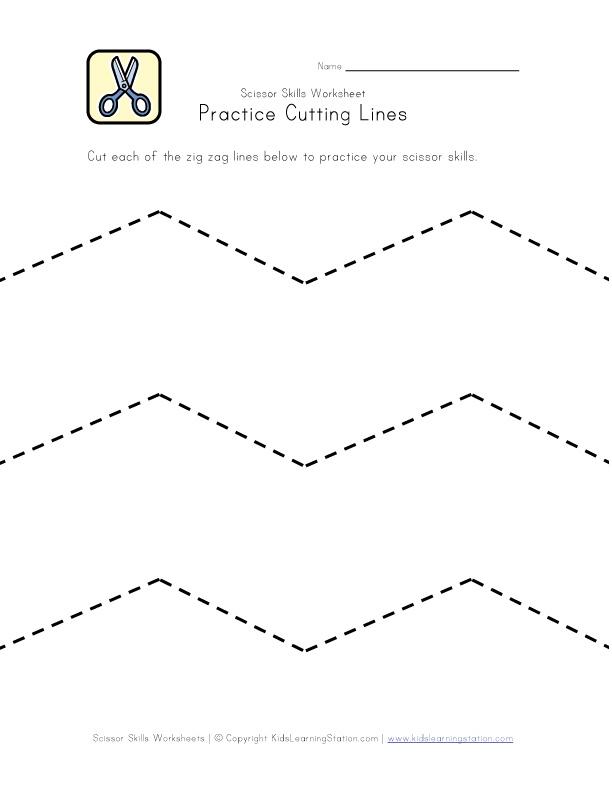 Practice Scissor Skills Worksheet | Kids Learning Station