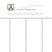 practice cutting lines