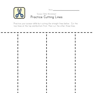 cutting practice worksheet