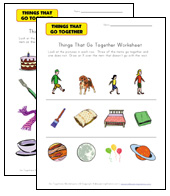 things that go together worksheets