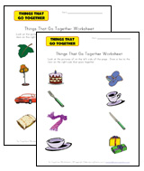 matching go-togethers worksheets