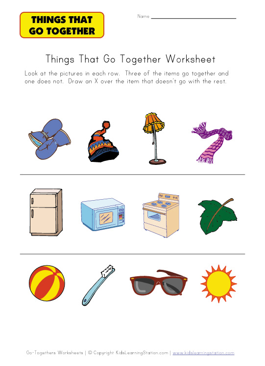 Matching Worksheets For Preschool : ABITLIKETHIS