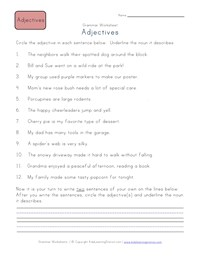 Third Grade Adjective Worksheets | Kids Learning Station