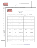 person place or thing worksheets