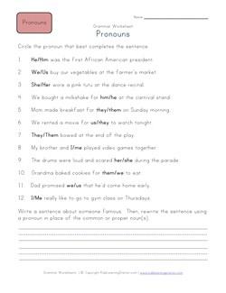 4th grade writing correcting sentences worksheets
