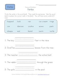 First Grade Noun Worksheets | Kids Learning Station