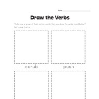 draw the verbs worksheet