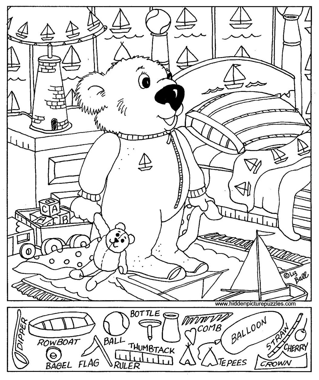 free printable hidden objects printable hidden objects coloring pages
