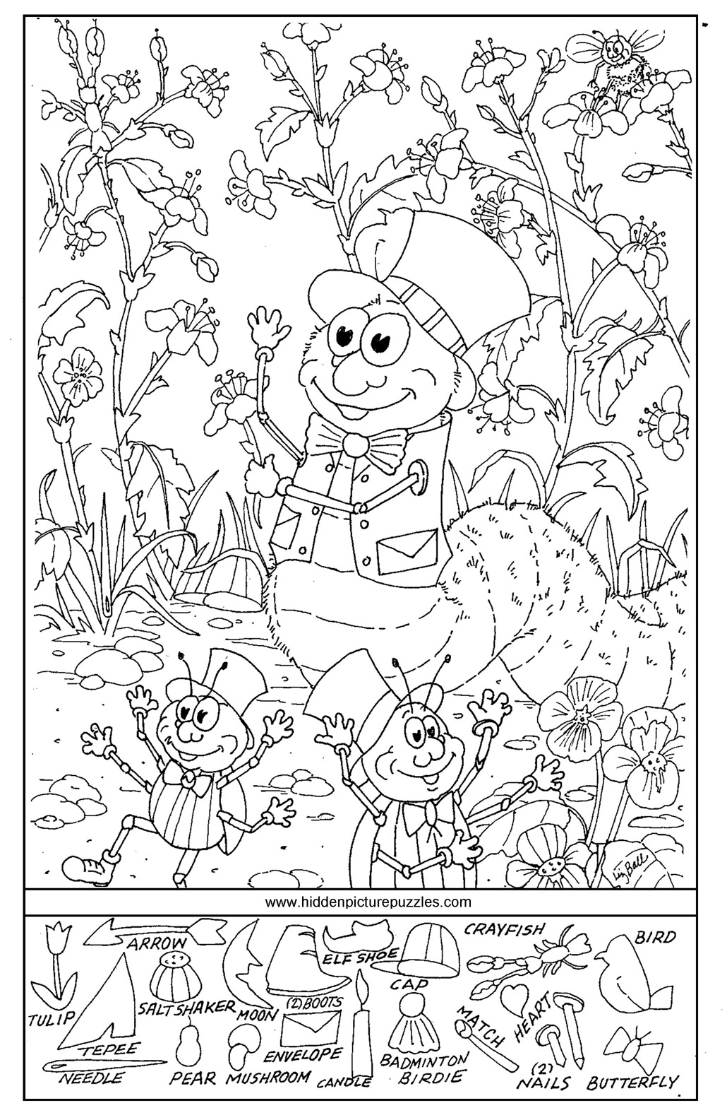 Printable Hidden Picture Coloring Pages 1078 · 1264