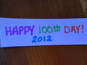 happy 100th day craft