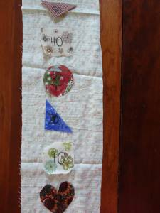 fabric shapes 100th day craft
