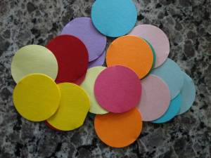 colored cardstock pieces
