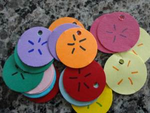 paper sand dollar craft