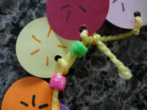 100th day necklace craft