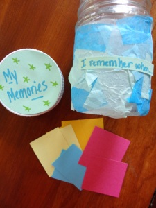 100 days of memories jar craft