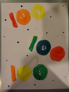 100 days of school potato craft