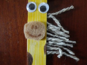 popsicle stick giraffe craft