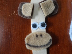 popsicle stick monkey craft