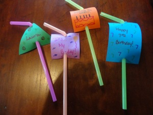 birthday party straws craft