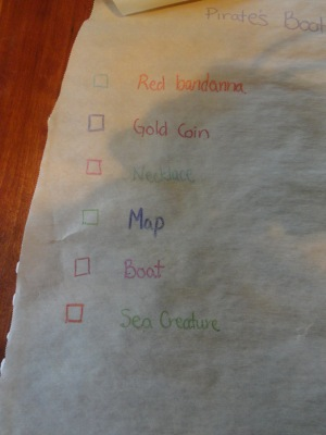 treasure map birthday craft