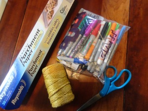 treasure map craft materials