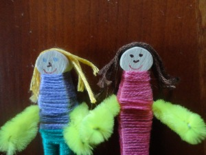 tiny wooden dolls craft
