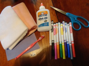 captain toothbrush craft materials