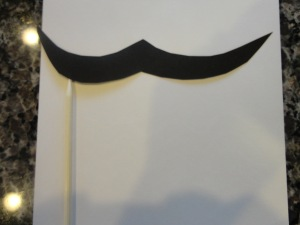 mustache dress up craft
