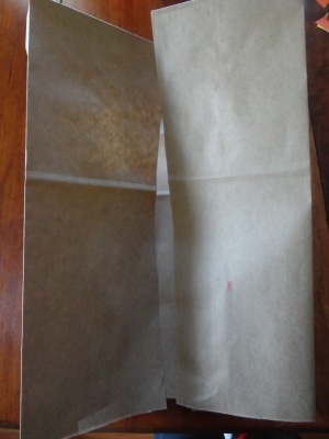 paper bag cowboy vest craft step 1