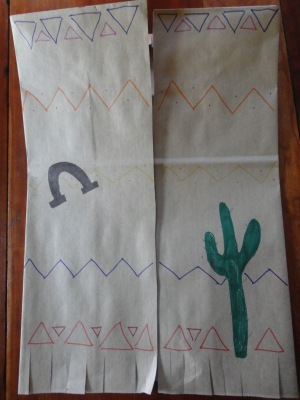 paper bag cowboy vest craft