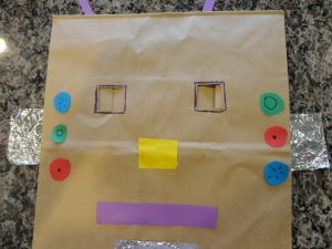 paper bag robot costume
