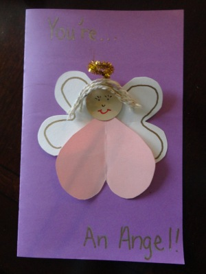 angel greeting card craft