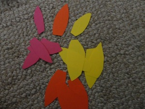 flower petal card craft