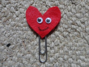 heart bookmark craft