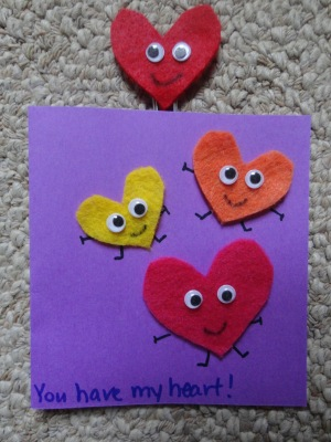 heart card and bookmark craft